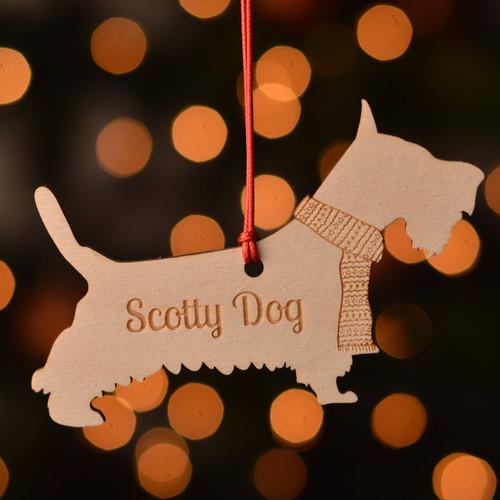 Personalised Scotty Dog Decoration