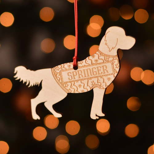 Personalised Springer Spaniel Decoration