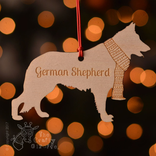 Personalised German Shepherd Decoration