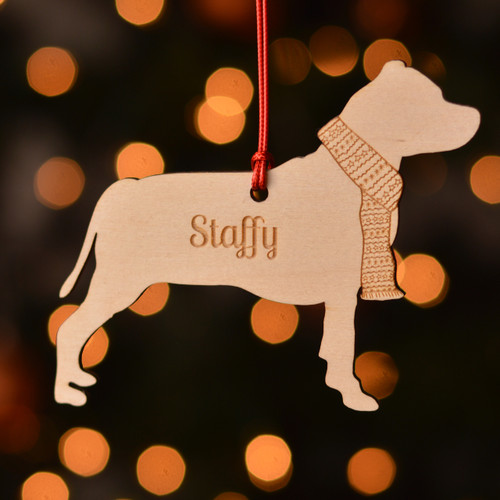 Personalised Staffordshire Bull Terrier Decoration