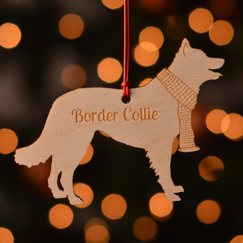 Personalised Border Collie Decoration