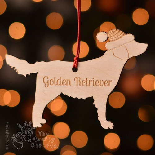 Personalised Golden Retriever Decoration