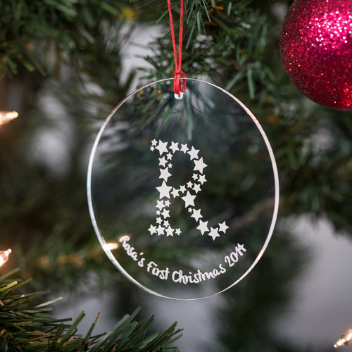 Personalised Starry Letter Bauble