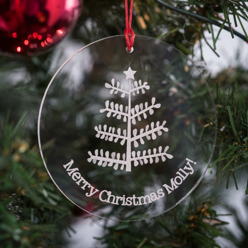Personalised Stick Tree Bauble