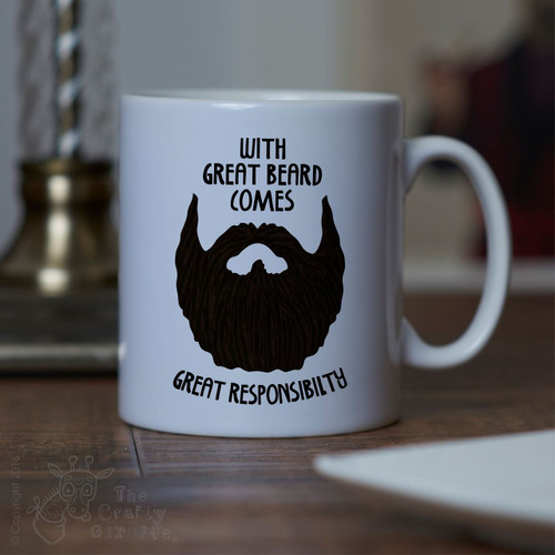 With great beard comes great responsibility Mug - Black