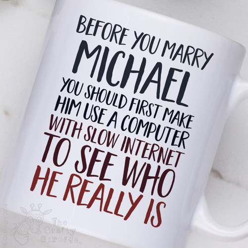 Personalised - Before you marry a person Mug - Male
