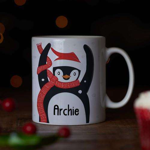 Personalised - Penguin Mug