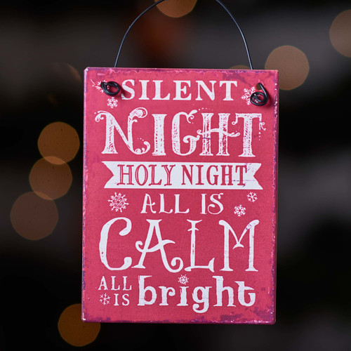Silent night Holy night plaque