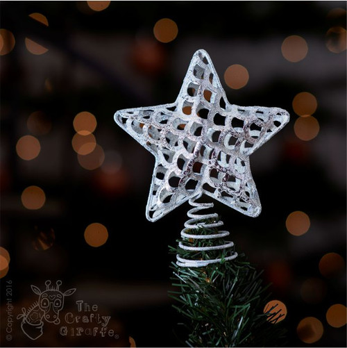 Silver Star metal Tree Topper