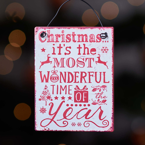 Christmas It's the most wonderful time of the year metal sign