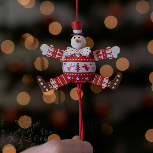 Festive Angel Snowman Jumping Jack