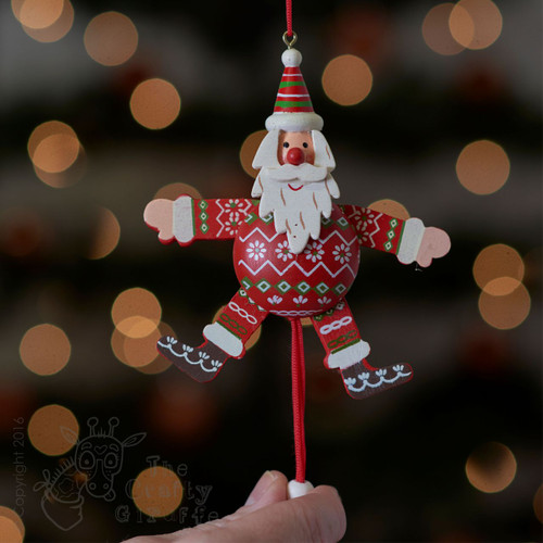 Christmas Red & Green Santa Jumping Jack