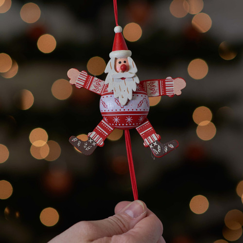 Festive Holly Santa Jumping Jack