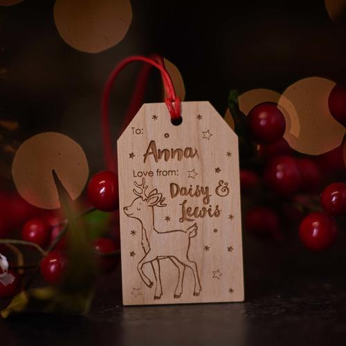 Personalised Christmas Reindeer Gift Tags