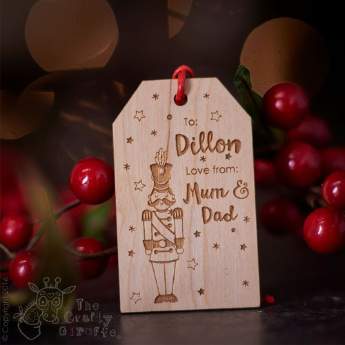 Personalised Christmas Toy Soldier Gift Tags