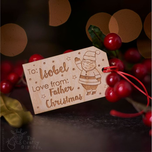 Personalised Christmas Santa Gift Tags