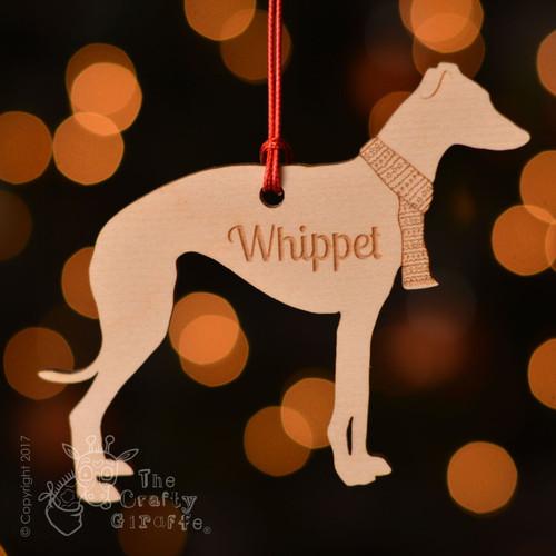 Personalised Whippet Dog Decoration