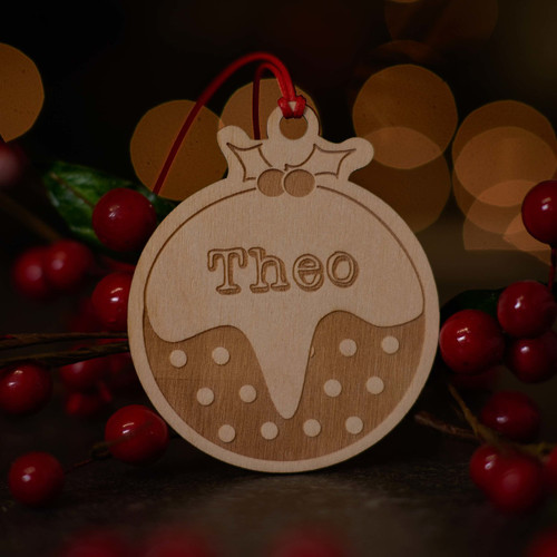 Personalised Christmas Pudding Decoration