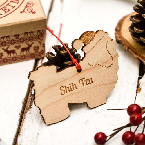 Personalised Shih Tzu Dog Decoration