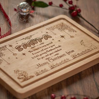 Personalised Santa Platter Xmas Eve Treat Board The