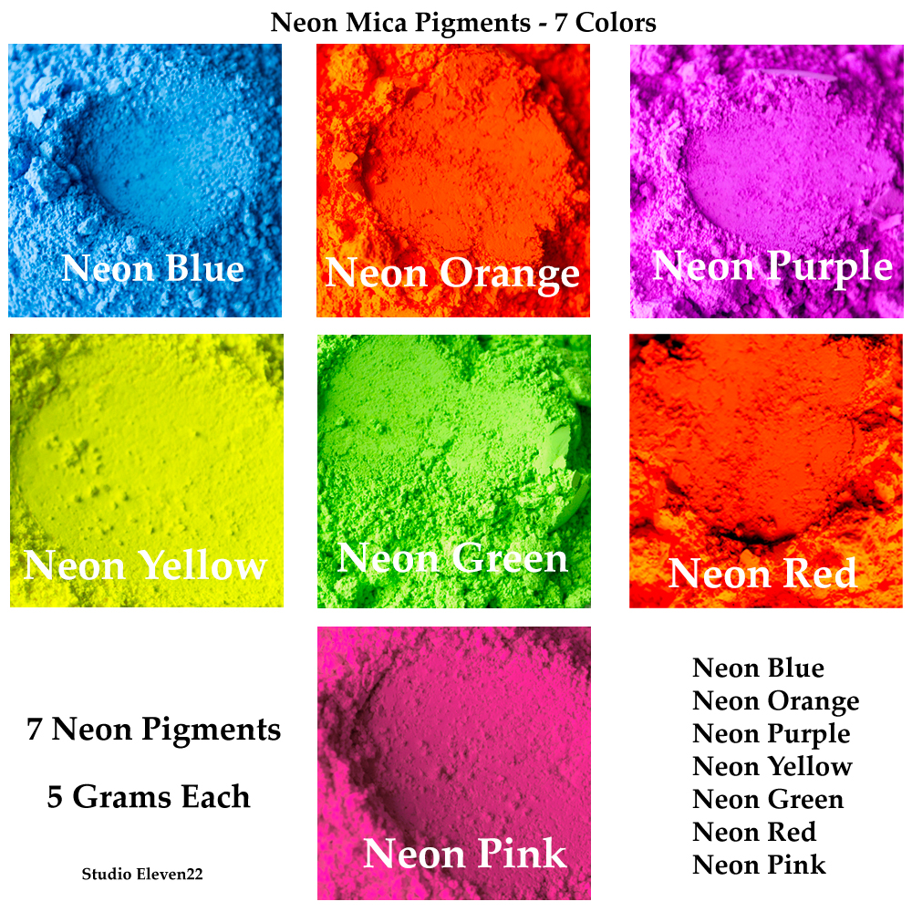 Neon Pigment Color Set | Studio Eleven22