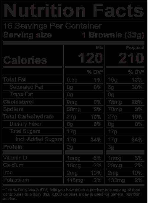 Bosquet gluten-free brownie nutrition