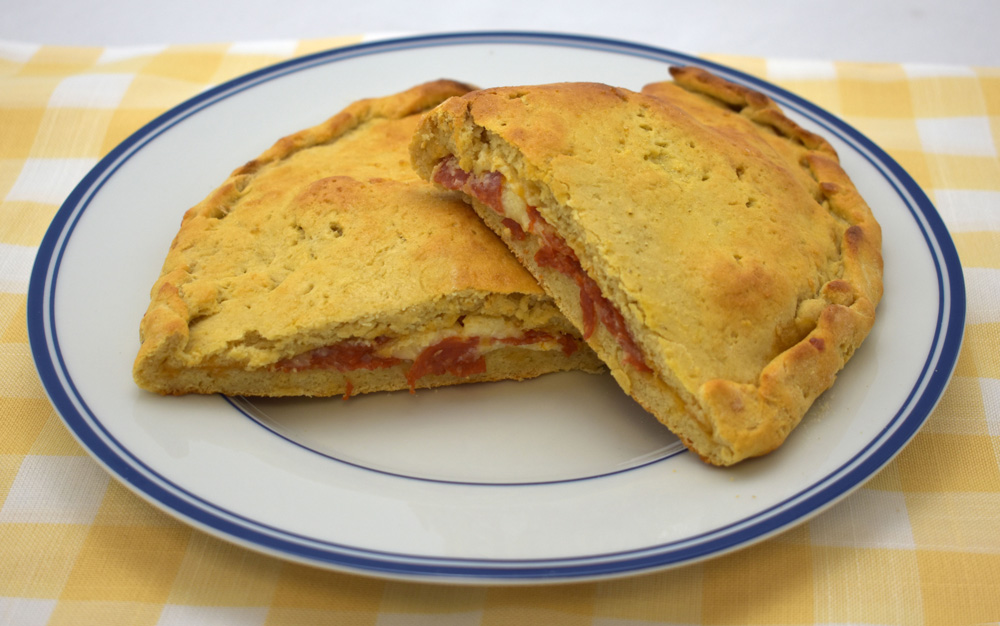 Gluten Free Pepperoni and Cheese Calzone