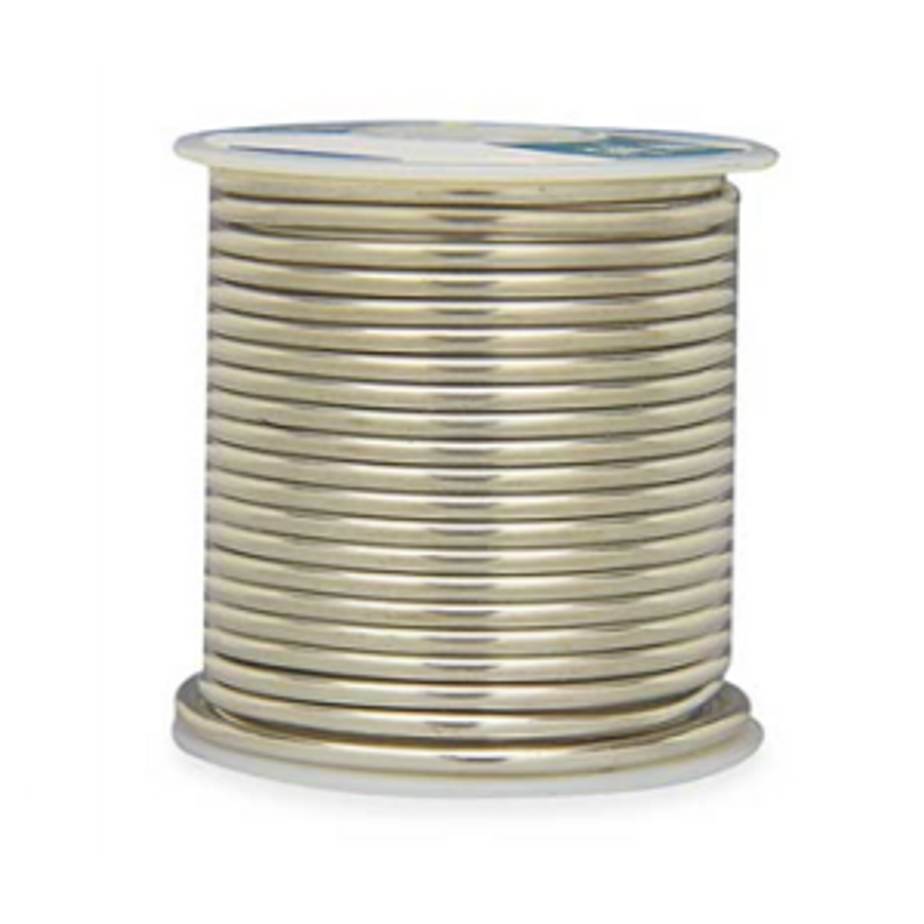 60/40 solder is a 60% tin, 40% lead alloy. The greater content of tin decreases the melting and setting point of the solder, making it the choice for general copper foil work. 60/40 solder has a shiner surface when set.