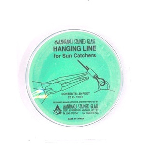 Flexible, but strong, Hanging Line is a great replacement for wire or fishing line. Use the connectors to close the loop instead of trying to tie a knot. The connector is easy to crimp with pliers.