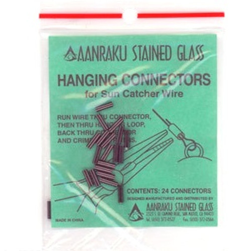 Use the hanging connectors to close the loop instead of trying to tie a knot in the hanging line. The connector is easy to crimp with pliers.