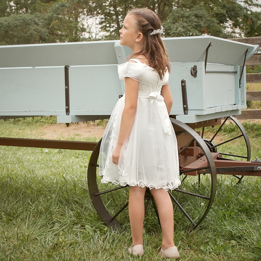 The Birth Of Elizabeth Dress - Dutch White