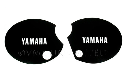 "Side Panel Decal Set XT500 76-79 Black ""YAMAHA"""