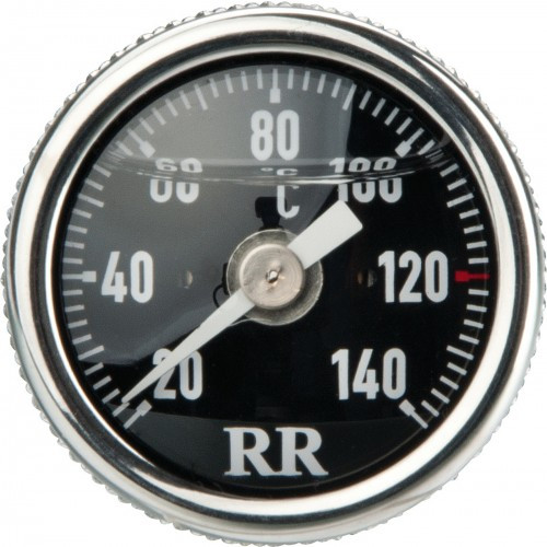 Oil Dipstick Thermometer RR23 with Black Clockface and Centigrade Dial (20-140°C)Black