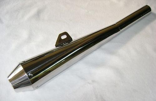 Muffler SR500 Stainless Reverse Cone Shorty