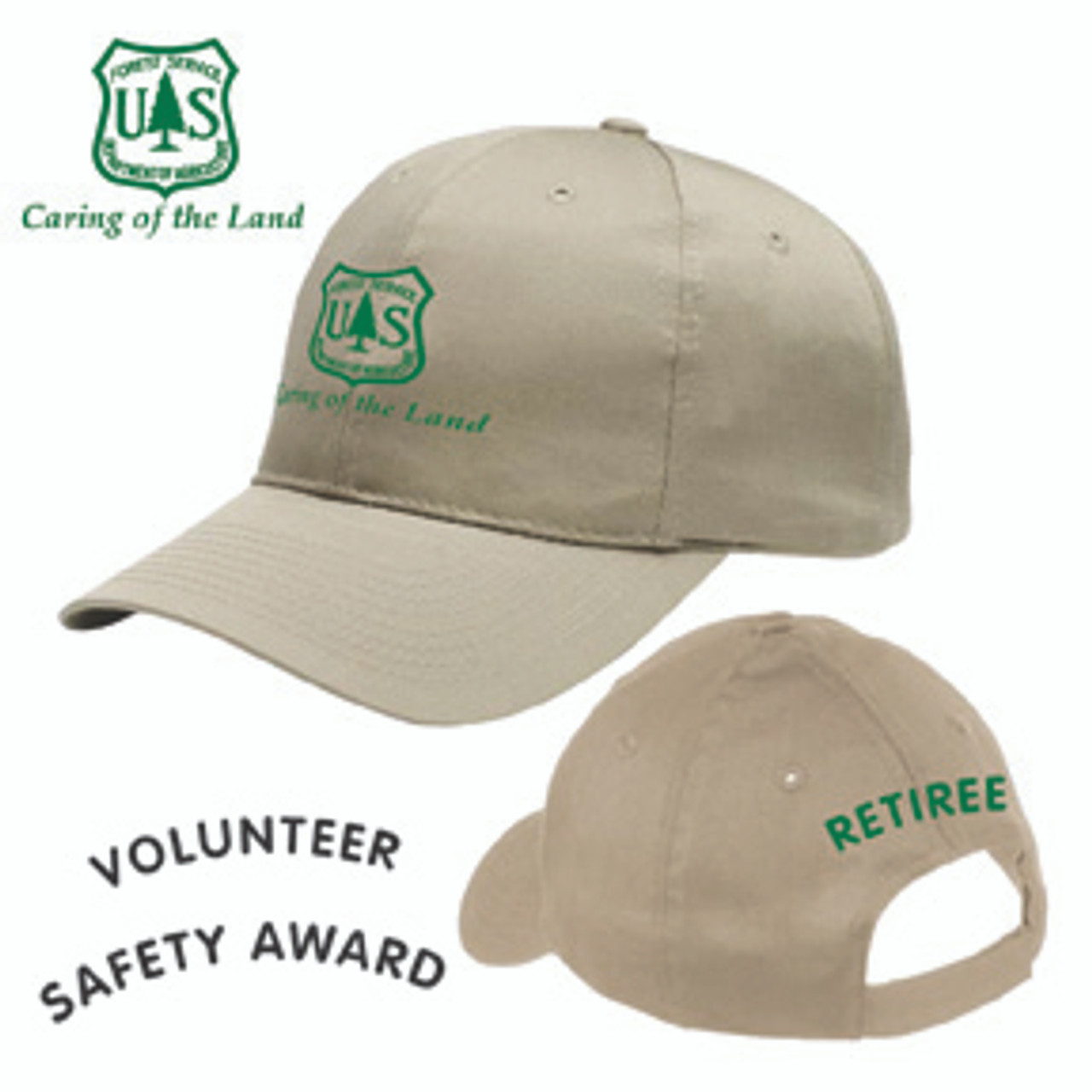 Forest Service Cap - Khaki with Embroidery on Back