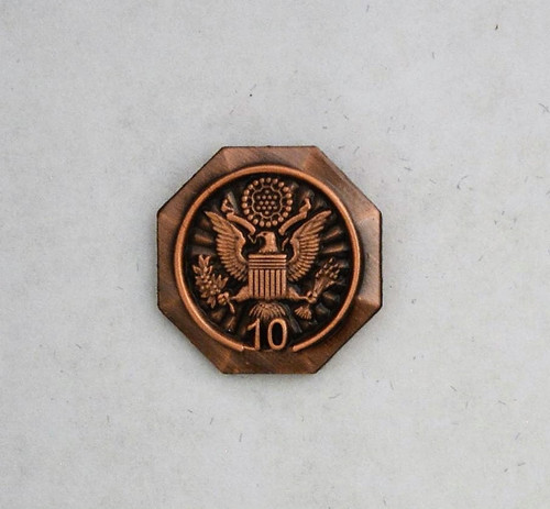 Forest Service Length of Service Pin with Eagle Crest (10 years)