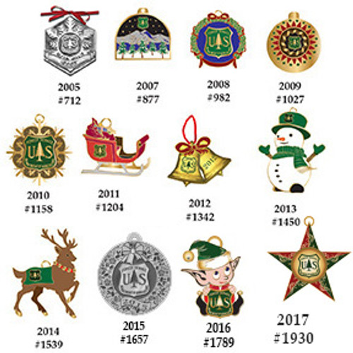 Forest Service Holiday Ornament Set
