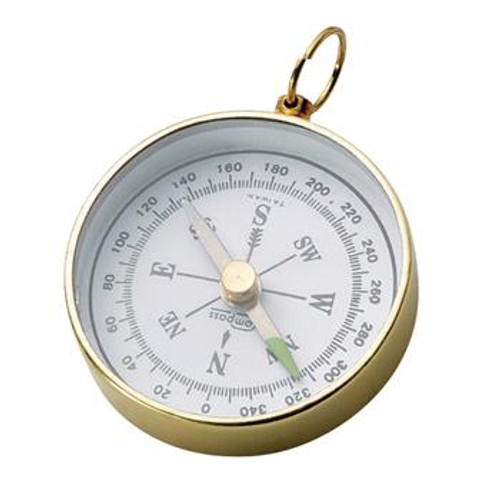 Brass Compass with Lanyard