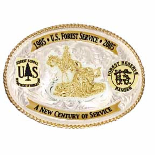 Forest Service Commemorative 2005 Centennial Plated Buckle