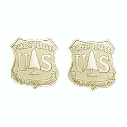 Forest Service Shield Earrings