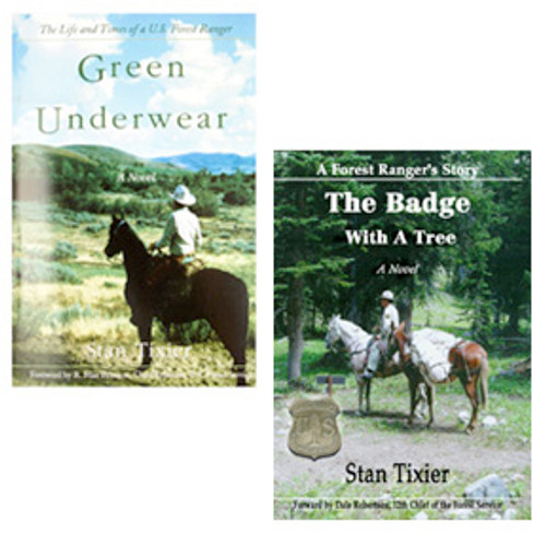 Green Underwear & Badge With A Tree - Package
