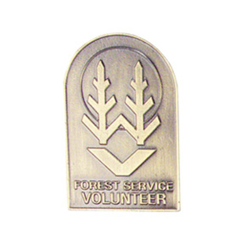 Forest Service Volunteer Antique Brass Shield Small