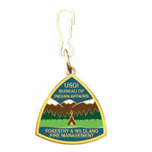 BIA Forestry & Wildland Fire Management Zipper Pull
