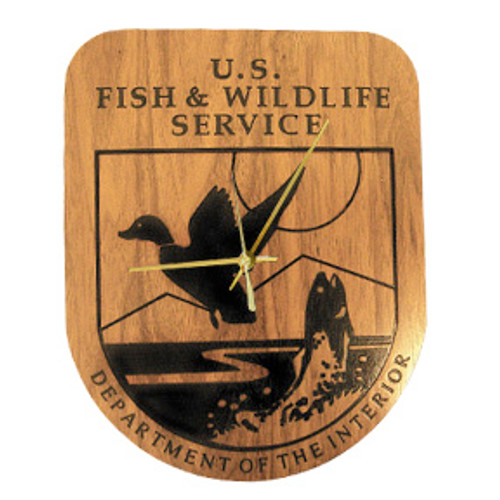 Fish & Wildlife Service Shield Clock