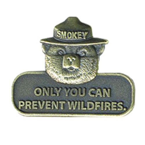 Smokey Bear Slogan Brass Pin