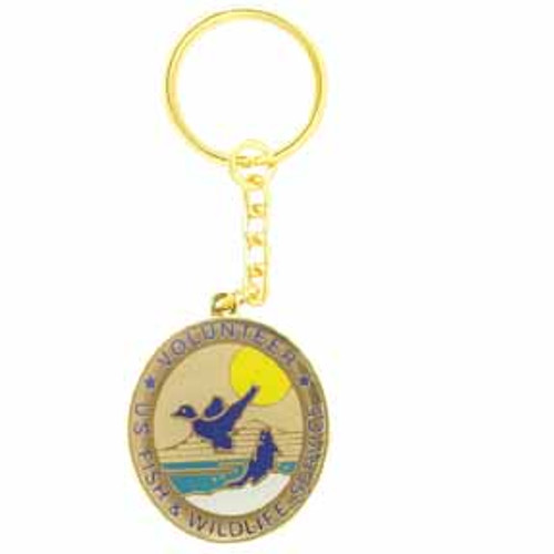 Fish & Wildlife Service Volunteer Keychain