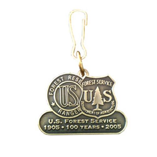 Forest Service Centennial Zipper Pull