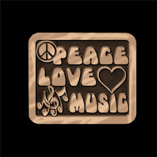 Peace Love Music Buckle