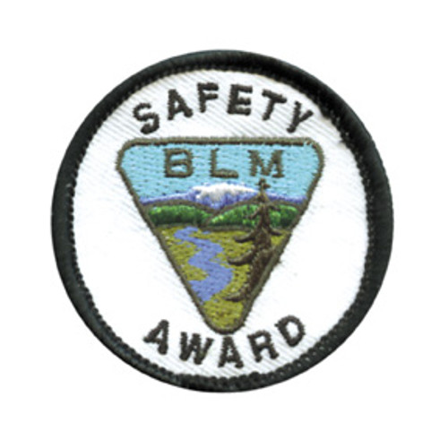 Bureau of Land Management Safety Award Patch
