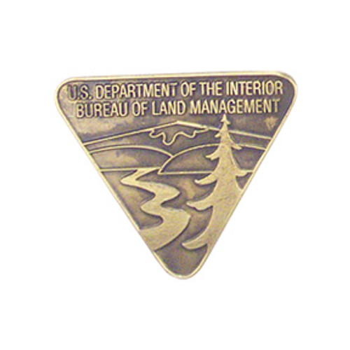 Bureau of Land Management Antique Brass Shield